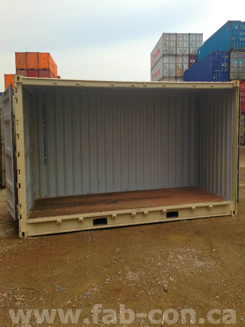 Fab-Con Container 20ft Openside Unit Using Standard Doors 1