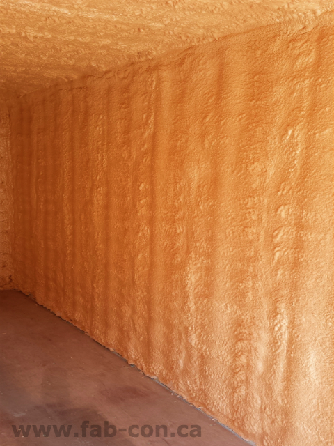 Fab-Con Container 20ft container spray foamed interior 13