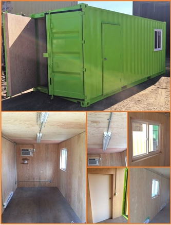 We've Gone Green! Fab-Con turned a retired 20' Shipping Container into a Bright Office Space!