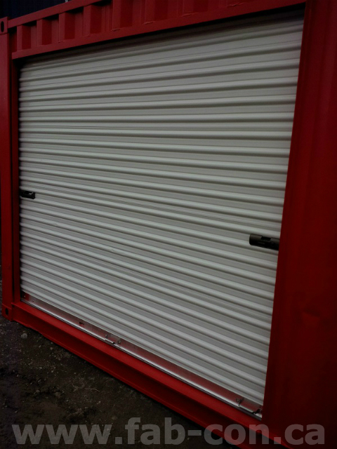 Fab-Con Container 10' Wide Roll Up Door In 40ft Container 2