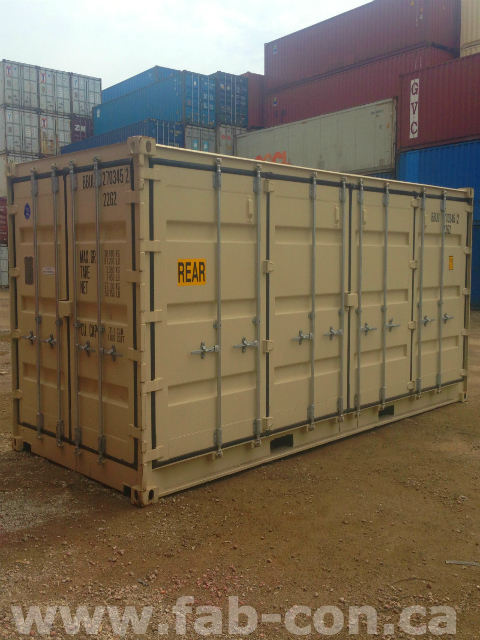 Fab-Con Container 20ft Openside Unit Using Standard Doors 3