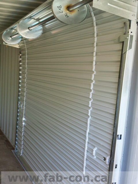 Fab-Con Container 6' Wide Roll Up Door 1