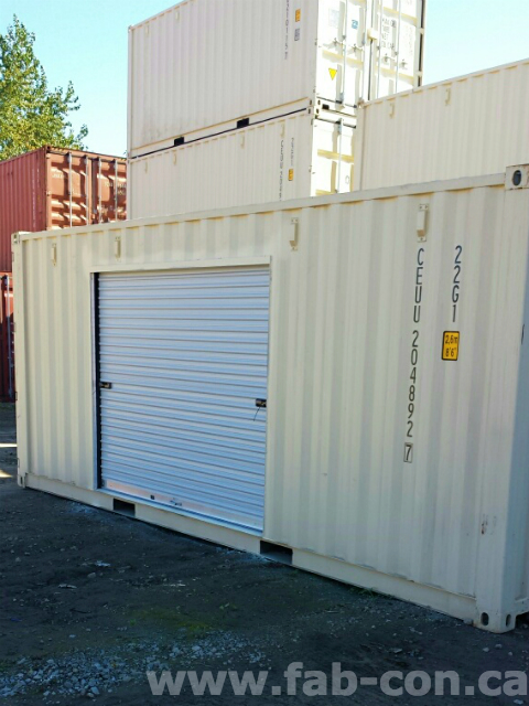 Fab-Con Container 8' Wide Roll Up Door In 20ft Container 1